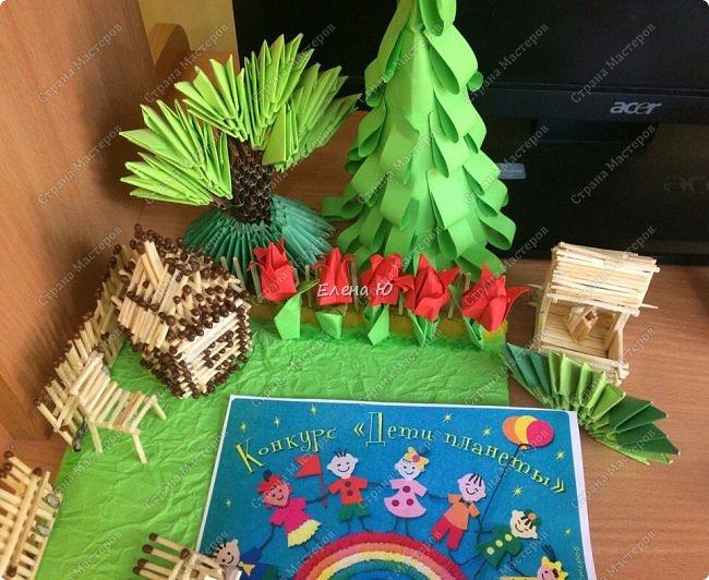 Арсений сделал упрощенный макет своего садового участка, где он проводит время в летние каникулы. фото 7