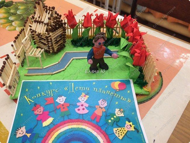 Арсений сделал упрощенный макет своего садового участка, где он проводит время в летние каникулы. фото 9