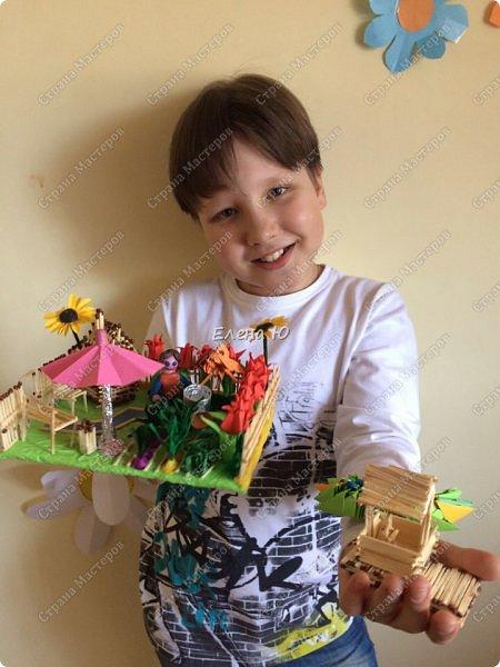 Арсений сделал упрощенный макет своего садового участка, где он проводит время в летние каникулы. фото 13