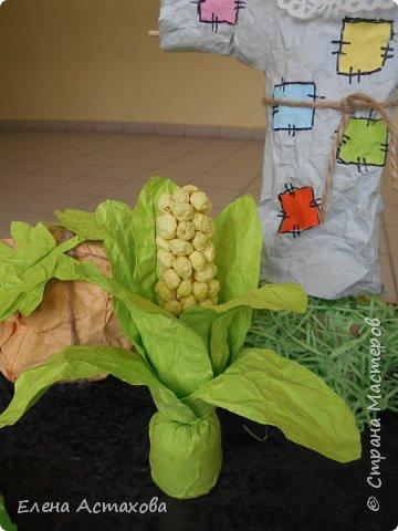 Вот наш огород, все овощи из мятой бумаги фото 7