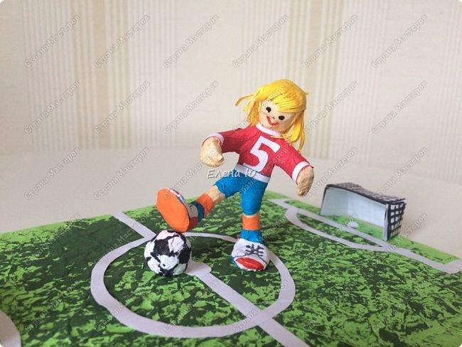 Как только мы узнали про новый конкурс в Стране Мастеров, Денис тут же заявил, что он будет делать футбольное поле с футболистом.  фото 11