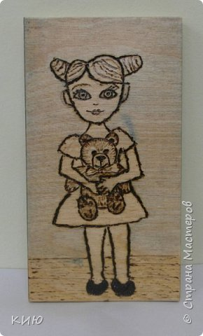 """Плюшевые Мишки - любимые игрушки маленьких девочек и мальчиков.  Варя изобразила с Мишкой девочку, и назвали мы ее Маша. Поэтому второе название этой работы """"Маша и Медведь"""" фото 6"""