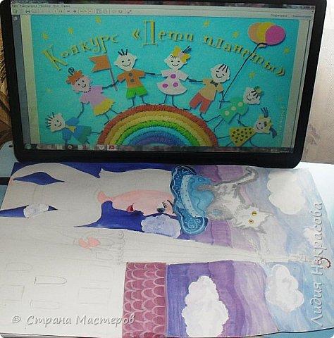 Я решила нарисовать героиню книги Мэри Поппинс, так как она меня поразила. Она может многое, что другим и не снилось: летать на зонтике, появляться неожиданно и так же исчезать, воспитывать детей строго и непринуждённо. Эта книга захватила меня в самом начале прочтения, несмотря на то, что читать я не очень люблю. Книга написана английской писательницей Памелой Трэверс , символ Англии-это красная роза, её я изобразила на зонтике. фото 4