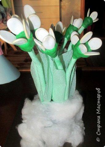 Катя сделала первые весенние цветы - подснежники. Подснежники - первое дыхание весны. Они занесены в Красную книгу, нуждаются в защите. фото 9