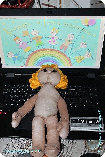 """Здравствуйте, жители Страны Мастеров. Наконец-то решилась поучаствовать в конкурсе. Давно хотела попробовать сделать куклу из капрона... и как говорится - МЕЧТЫ СБЫВАЮТСЯ ). Просмотрев номинации конкурса решила, что это будет """"Животные и дети"""". фото 8"""