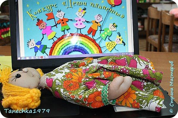 """Здравствуйте, жители Страны Мастеров. Наконец-то решилась поучаствовать в конкурсе. Давно хотела попробовать сделать куклу из капрона... и как говорится - МЕЧТЫ СБЫВАЮТСЯ ). Просмотрев номинации конкурса решила, что это будет """"Животные и дети"""". фото 9"""