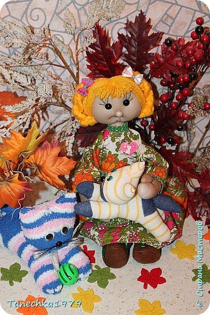 """Здравствуйте, жители Страны Мастеров. Наконец-то решилась поучаствовать в конкурсе. Давно хотела попробовать сделать куклу из капрона... и как говорится - МЕЧТЫ СБЫВАЮТСЯ ). Просмотрев номинации конкурса решила, что это будет """"Животные и дети"""". фото 17"""