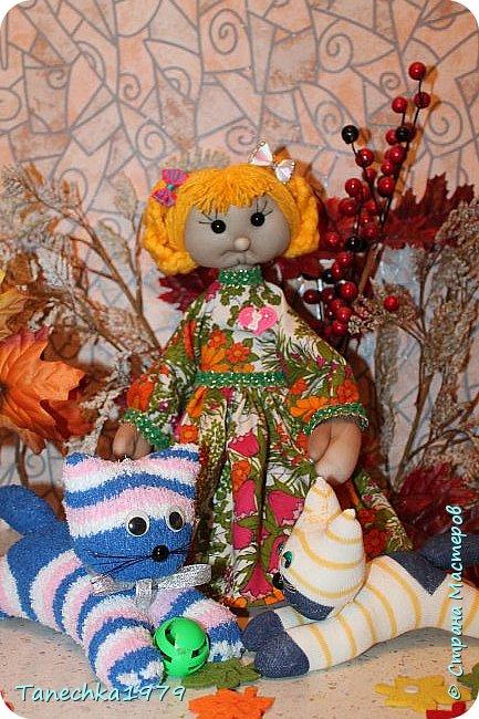 """Здравствуйте, жители Страны Мастеров. Наконец-то решилась поучаствовать в конкурсе. Давно хотела попробовать сделать куклу из капрона... и как говорится - МЕЧТЫ СБЫВАЮТСЯ ). Просмотрев номинации конкурса решила, что это будет """"Животные и дети"""". фото 18"""