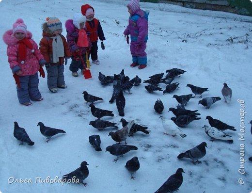 Здравствуйте, мастера!!! Моя девочка кормит снегиря, заботится о птичке.  Наша Даша вышла в сад,  В корзинке семечки лежат.  К Даше птичка прилетела  На ладошку тихо села. фото 9