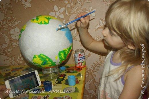 """""""Наша планета в руках наших детей"""" - так звучит название работы. Она передает, то что состояние нашей планеты зависит от наших детей. Как мы научим детей беречь нашу планету, поддерживать чистоту, гуманно относится к флоре и фауне, охранять ее ресурсы и рационально их использовать, это даст возможность сохранить нашу планету как можно дольше. фото 3"""