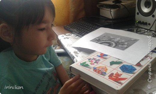 """Решили с  Настей иллюстрировать сказку """"Серая шейка"""" в технике оригами.  фото 3"""