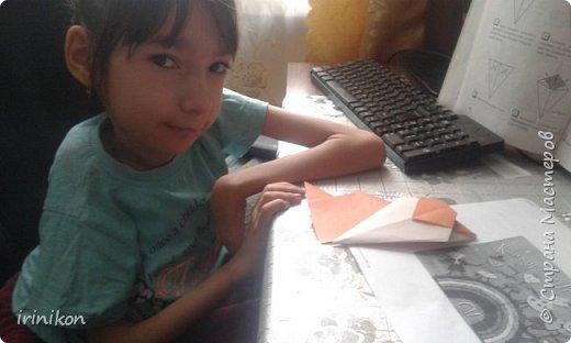 """Решили с  Настей иллюстрировать сказку """"Серая шейка"""" в технике оригами.  фото 5"""