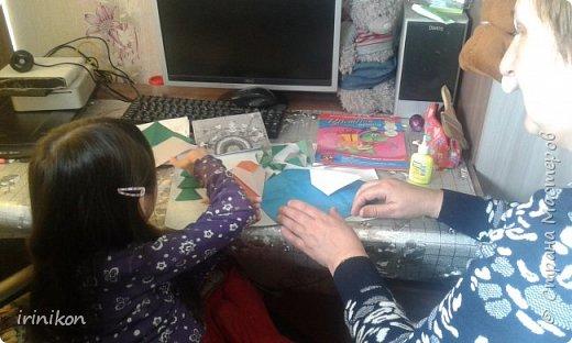 """Решили с  Настей иллюстрировать сказку """"Серая шейка"""" в технике оригами.  фото 8"""