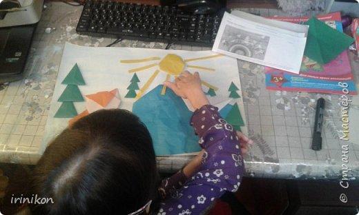 """Решили с  Настей иллюстрировать сказку """"Серая шейка"""" в технике оригами.  фото 9"""