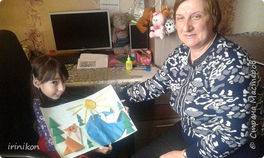 """Решили с  Настей иллюстрировать сказку """"Серая шейка"""" в технике оригами.  фото 10"""