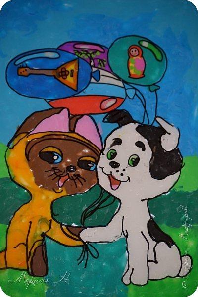 С Алёной мы долго выбирали что сделать. Не так давно, на конкурс в детский сад, Алёна делала картину из пластилина с изображением котенка Гав и очень он ей запомнился. Решили мы сначала сделать Шарика из этого мультфильма, но потом передумали и сделали вместе котёнка и щенка))) фото 1