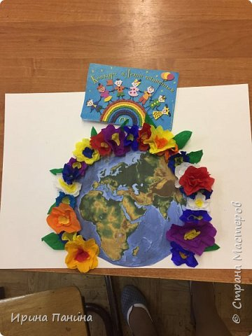 """2017 год объявлен годом экологии. Мы хотим жить на цветущей планете, дышать чистым воздухом, пить чистую воду. Вот мы и  решили сделать плакат """"Мы за цветущую планету!"""".  фото 4"""