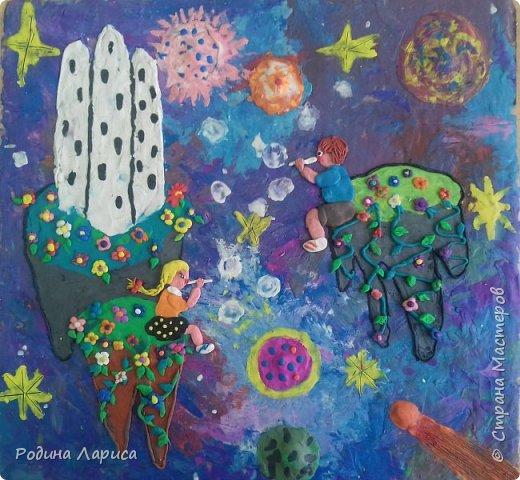 Мир будущего. Дети катаются на летающих островах и пускают мыльные пузыри, потому что дети во все времена - дети. фото 1