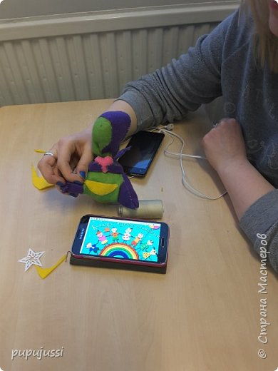 Вот такой дракоша Родился! В Финляндии будущего ребёнка называют вечерней звёздочкой.Поэтому у дракоши на хвостике  берестяная звездочка,как образ ребёнка.  Я думаю,что игрушки будущего должны быть мягкими ,тёплыми и сделаны руками мамы. фото 10