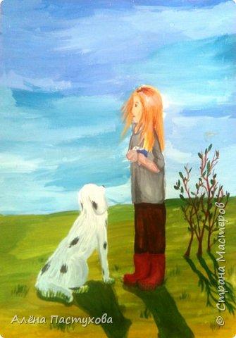Таня любит рисовать, кропотливая и старательная. Участвует во всех конкурсах, которые нам предлагают. Из семи номинаций сразу остановилась на теме о животных, потому что очень любит собак.  фото 1