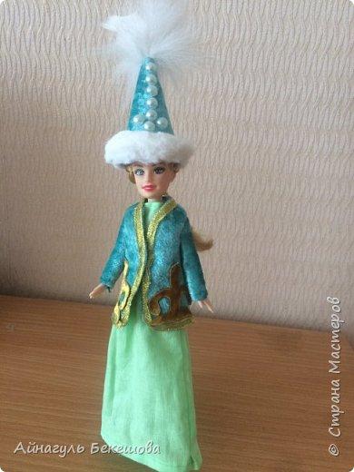 """В преддверии весеннего мусульманского праздника Наурыз был объявлен конкурс """"Дети планеты"""". Поэтому я решила сшить костюм своего народа, казахской девушки. Он состоит из головного убора- саукеле, платья, камзола и обуви. фото 1"""