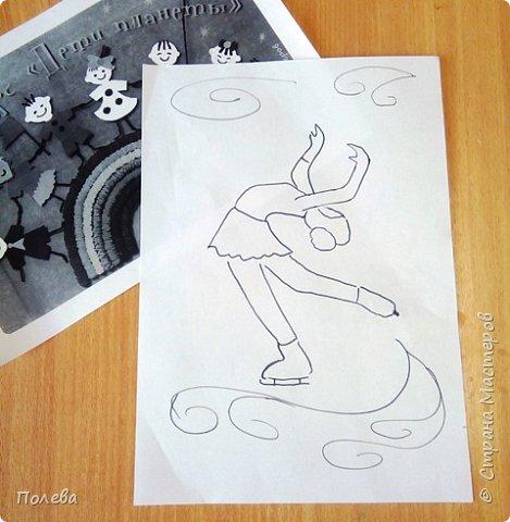 В свободное время Настя занимается фигурным катанием. Поэтому свою работу в смешанной технике она решила посвятить этому виду спорта. фото 2