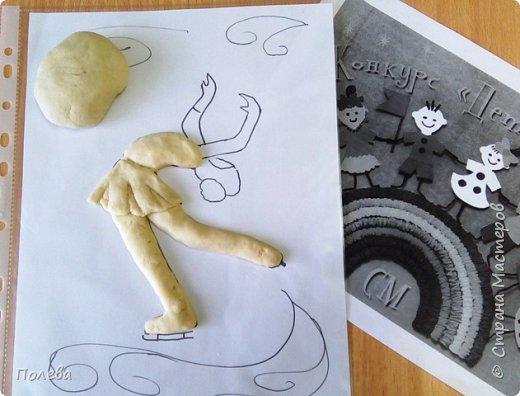 В свободное время Настя занимается фигурным катанием. Поэтому свою работу в смешанной технике она решила посвятить этому виду спорта. фото 3
