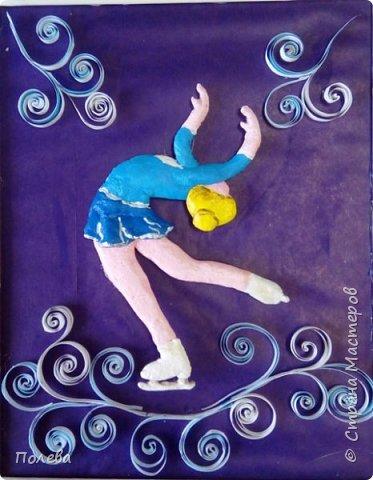 В свободное время Настя занимается фигурным катанием. Поэтому свою работу в смешанной технике она решила посвятить этому виду спорта. фото 5