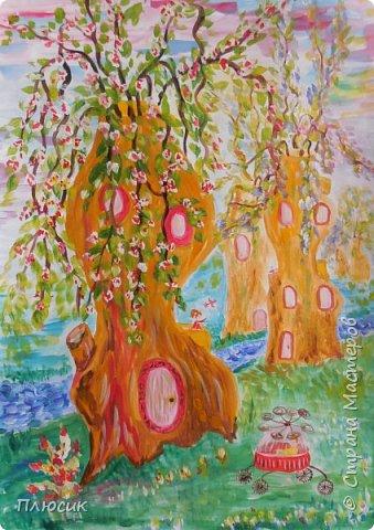 Это город будущего. На улице весна! Люди живут в деревьях!  фото 1