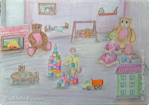 Здравствуйте!  Я с большим удовольствием принимаю участие в конкурсе.  Мне скоро исполнится 10 лет, но до сих пор люблю играть в игрушки. Моими любимцами являются мягкие мишки, поэтому нарисовала их повсюду. Приглашаю к просмотру. фото 10