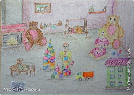 Здравствуйте!  Я с большим удовольствием принимаю участие в конкурсе.  Мне скоро исполнится 10 лет, но до сих пор люблю играть в игрушки. Моими любимцами являются мягкие мишки, поэтому нарисовала их повсюду. Приглашаю к просмотру. фото 7