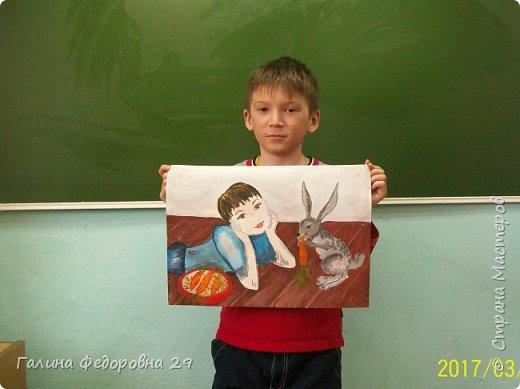 """Уважаемые мастера! Представляем вашему вниманию рисунок """"Морковка для друга"""". Выполнил ученик второго класса. На рисунке изображен любимый домашний питомец. фото 9"""
