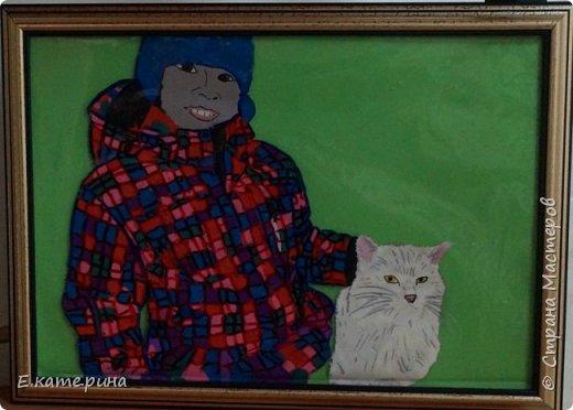 """Здравствуйте, уважаемые жители Страны Мастеров! Еще одна работа моей ученицы. Вероника учится в 3 классе и тоже сразу выбрала номинацию """"Животные и дети"""". Вместе с подружкой решила делать работу по своей фотографии. фото 1"""