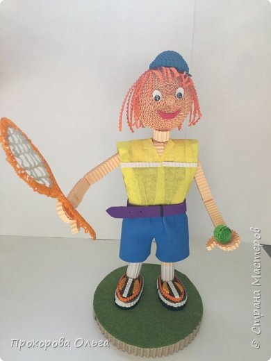 Олег занимается большим теннисом, вот и поделка соответствует хобби фото 5