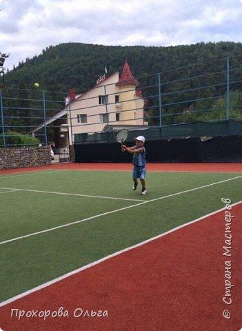 Олег занимается большим теннисом, вот и поделка соответствует хобби фото 6