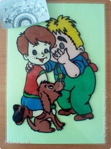 """Узнав о конкурсе, я решил сделать картинку из сказки шведской писательницы Астрид Линдгред """"Малыш и Карлсон, который живёт на крыше"""" в номинации """"Голубой вагон сказок"""", потому что в этом произведении говорится о дружбе. фото 6"""