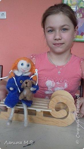 """Халтурина Ольга  с большим желанием решила поучаствовать в конкурсе. У ее есть лучший друг,  это  щенок Тишка. Оля занимается в творческом объединении """"Фантазии из бисера и войлока"""" и свою работу она выполнила в технике сухое валяние фото 8"""