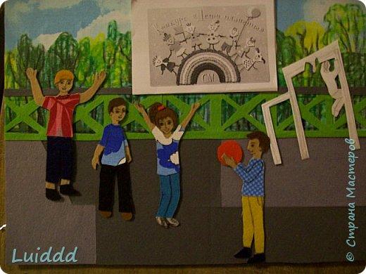 """Добрый день жители Страны Мастеров. Хочу представить вашему вниманию третью работу на тему советского детства, которая называется """" На спортивной площадке"""". фото 5"""