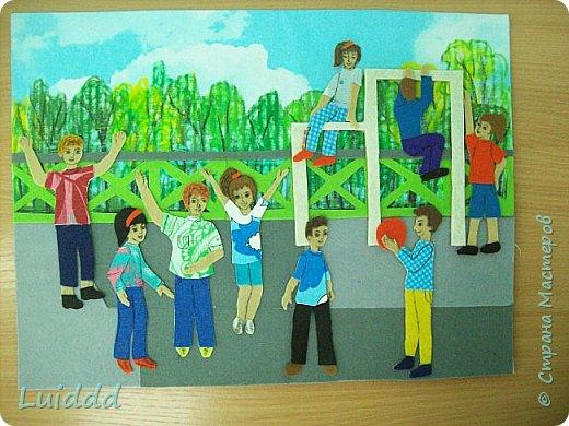 """Добрый день жители Страны Мастеров. Хочу представить вашему вниманию третью работу на тему советского детства, которая называется """" На спортивной площадке"""". фото 6"""
