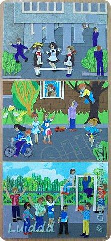 """Добрый день жители Страны Мастеров. Хочу представить вашему вниманию третью работу на тему советского детства, которая называется """" На спортивной площадке"""". фото 7"""