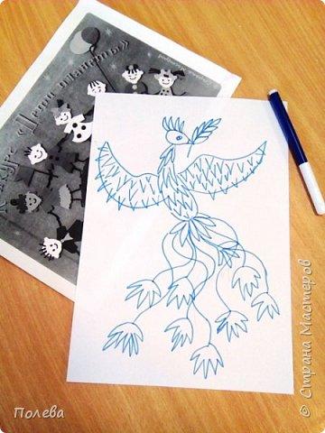 Жар-птица - один из самых волшебных персонажей русских народных и авторских сказок. Возможно поэтому Алина выбрала её для своей работы.  фото 2