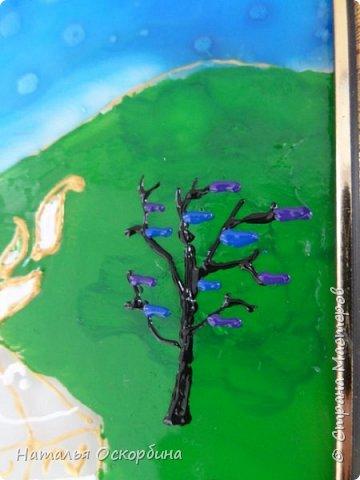 Добрый день, жители «СТРАНЫ МАСТЕРОВ»! Представляем вашему вниманию картину в технике витраж «Душевная песня степей»  фото 9