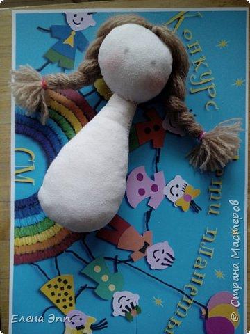 На этот конкурс мне захотелось сделать куколку. Девочку в русском костюме. Раньше на Руси очень популярно было имя Матрёна. И мою бабушку звали Матрёна. А маленьких девочек называли Матрёшой, Матрёшкой. Так даже назвали самую известную русскую игрушку.  Вот и мою куколку зовут Матрёшка. фото 4