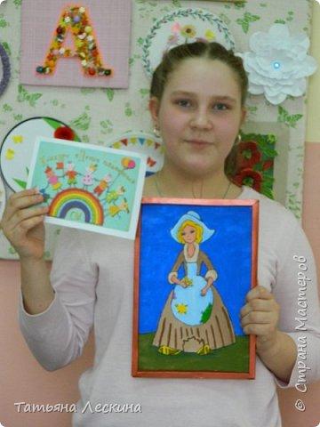 """Золушка""- героиня сказки Шарля Перо, нарисована на ткани акрилом. фото 10"