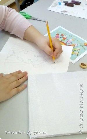 """Золушка""- героиня сказки Шарля Перо, нарисована на ткани акрилом. фото 3"