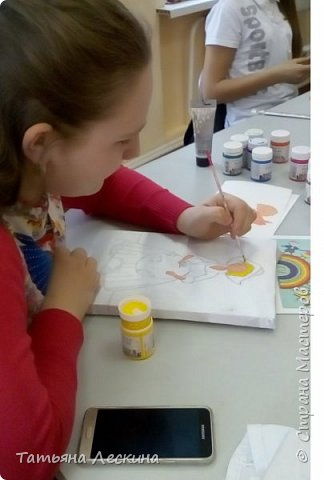 """Золушка""- героиня сказки Шарля Перо, нарисована на ткани акрилом. фото 5"