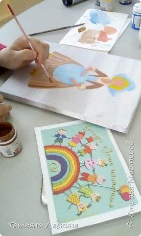 """Золушка""- героиня сказки Шарля Перо, нарисована на ткани акрилом. фото 7"