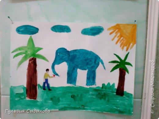 Из всех животных мне очень нравится слон и слоненки, потому что они всегда веселые в мультиках, добрые и храбрые. Обитают в тропических странах. фото 1