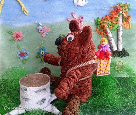 """Добрый день! Моя ученица Юлечка решила поучаствовать в конкурсе со своей любимой сказкой """"Машенька и медведь"""". фото 12"""