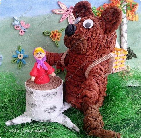 """Добрый день! Моя ученица Юлечка решила поучаствовать в конкурсе со своей любимой сказкой """"Машенька и медведь"""". фото 17"""